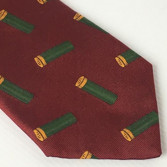 seaward & stearn Other - Seaward & Stearn Woven Silk Tie Shotgun Shells